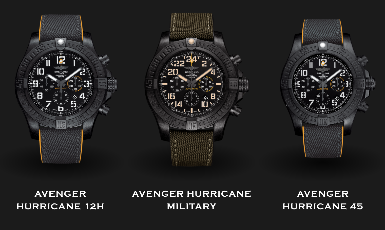 Breitling Avenger Hurricane Collection