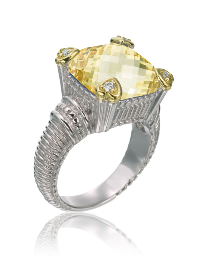 Judith Ripka Canary Crystal Ring - Yellow gemstone ring